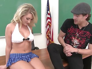 Sweet mistake pass up finds a spark with the bad schoolboy and she wants his dick inside be required of her