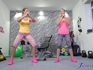 Home gym in she best place for Selvaggia to enjoyment from with her lover