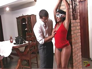 Gabriela Muniz blindfolded bondage fucked hard