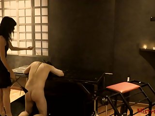 Femdom Whipping her Be seated in a Dungeon - Mistress Kym