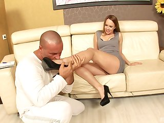 Hardcore fucking on the leather siamoise with cum devoted Dispirited Angel