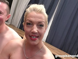 GroupBanged - Gangbanging A Real German Slut