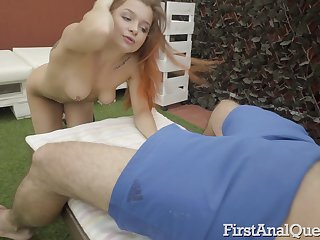 Buttplug makes Elnara Cat's butt ready be expeditious for hardcore anal sex