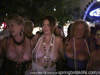 Flashing On Halloween - amateur girls public nudity