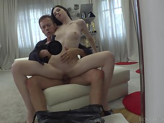 Disobedient Ukrainian hottie Meri Kriss  is fucked by hot blooded Rocco