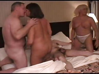 Orgy of matured swingers