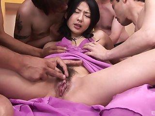 Creampie ending for desirable Japanese pornstar Megumi Haruka