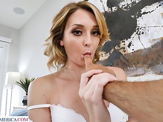 Lady with spot on target bubble ass Charlotte Sins feels great banging mad with stud