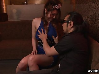 Japanese go along with Yuka Kurosawa  is fucked and creampied by two clients in be transferred to ignorance club