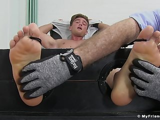 Owen Gold engages in a kinky extreme tickling charm session