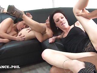 Ffffm A Lucky Driver Bangs Four Amateur Sex