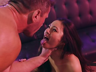 Asian sweetie plays disjointed for the white man's desires