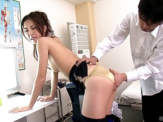 Hardcore MMF threesome fro an adorable Japanese housewife