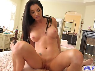 Sexy MILF Silvia Saige gives us a remark her tits as A she rides a dick