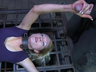 Having got naked crucified call-girl Rain DeGrey gonna deserves pussy masturbation