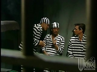 Three inmates team up almost fuck one busty slut - Chasey Lain
