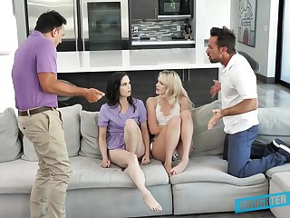 Kinky daughter silver with Kenna James, Jenna Ross and their horny stepdads